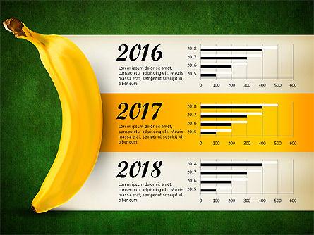 Banana Infographics, Slide 11, 03096, Infographics — PoweredTemplate.com