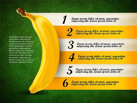 Banana Infographics, Slide 12, 03096, Infographics — PoweredTemplate.com