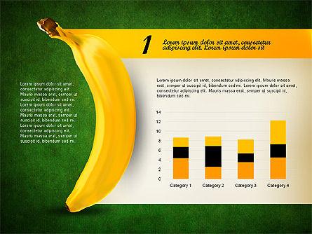 Banana Infographics, Slide 13, 03096, Infographics — PoweredTemplate.com