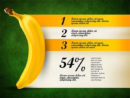 Banana Infographics, Slide 15, 03096, Infographics — PoweredTemplate.com