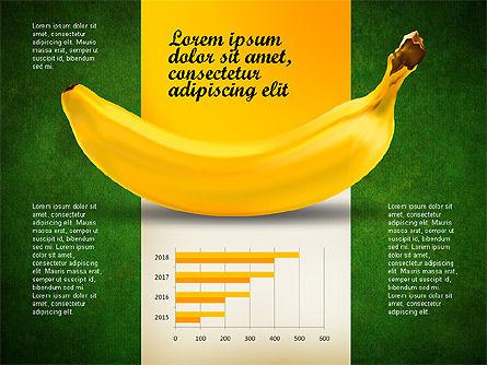 Banana Infographics, Slide 16, 03096, Infographics — PoweredTemplate.com