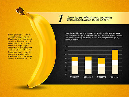 Banana Infographics, Slide 5, 03096, Infographics — PoweredTemplate.com