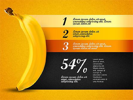 Banana Infographics, Slide 7, 03096, Infographics — PoweredTemplate.com