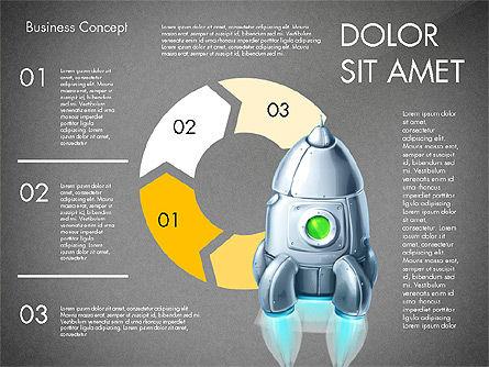 Project Launch Concept, Slide 10, 03098, Process Diagrams — PoweredTemplate.com