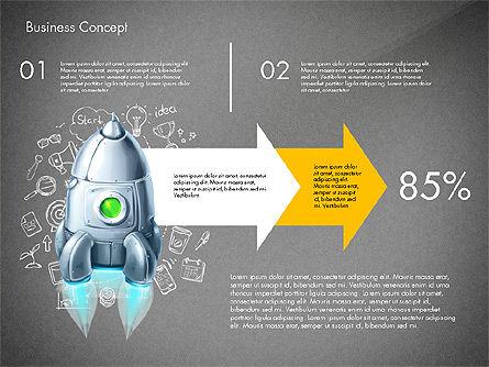 Project Launch Concept, Slide 11, 03098, Process Diagrams — PoweredTemplate.com