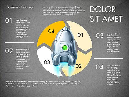 Project Launch Concept, Slide 12, 03098, Process Diagrams — PoweredTemplate.com