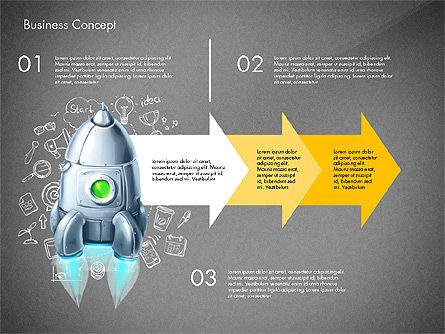 Project Launch Concept, Slide 13, 03098, Process Diagrams — PoweredTemplate.com
