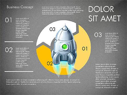 Project Launch Concept, Slide 14, 03098, Process Diagrams — PoweredTemplate.com