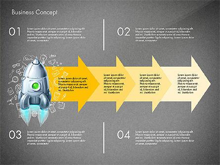Project Launch Concept, Slide 15, 03098, Process Diagrams — PoweredTemplate.com
