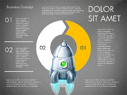 Project Launch Concept, Slide 16, 03098, Process Diagrams — PoweredTemplate.com