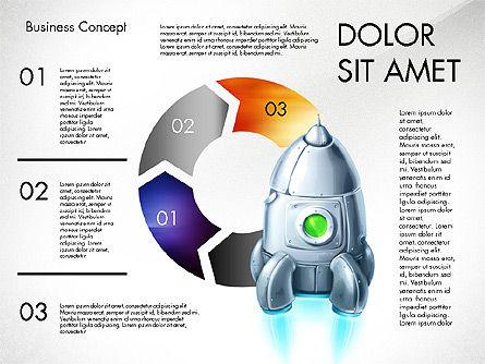 Project Launch Concept, Slide 2, 03098, Process Diagrams — PoweredTemplate.com