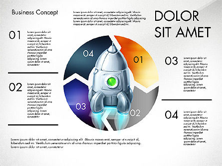 Project Launch Concept, Slide 4, 03098, Process Diagrams — PoweredTemplate.com