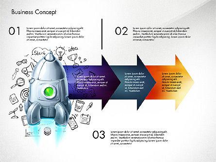 Project Launch Concept, Slide 5, 03098, Process Diagrams — PoweredTemplate.com