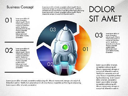 Project Launch Concept, Slide 6, 03098, Process Diagrams — PoweredTemplate.com