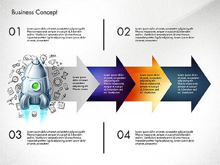 Project Launch Concept, Slide 7, 03098, Process Diagrams — PoweredTemplate.com