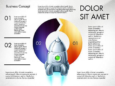 Project Launch Concept, Slide 8, 03098, Process Diagrams — PoweredTemplate.com