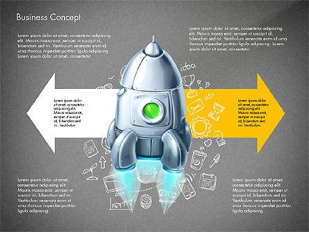 Project Launch Concept, Slide 9, 03098, Process Diagrams — PoweredTemplate.com
