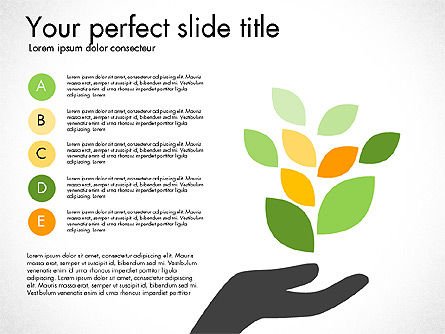 Options and Stages with Leaves, Slide 4, 03099, Stage Diagrams — PoweredTemplate.com