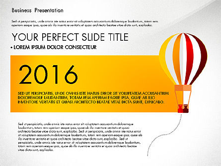 Yellow Themed Pitch Deck Presentation Template, 03100, Presentation Templates — PoweredTemplate.com