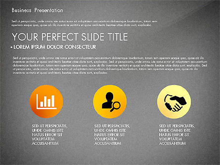 Yellow Themed Pitch Deck Presentation Template, Slide 12, 03100, Presentation Templates — PoweredTemplate.com