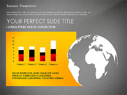 Yellow Themed Pitch Deck Presentation Template, Slide 13, 03100, Presentation Templates — PoweredTemplate.com