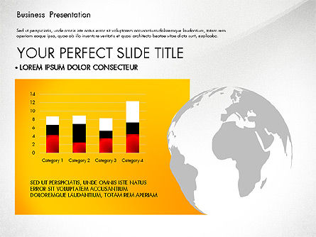 Yellow Themed Pitch Deck Presentation Template, Slide 5, 03100, Presentation Templates — PoweredTemplate.com
