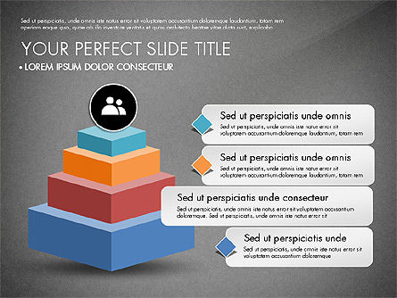 Pyramids and Blocks, Slide 12, 03101, Shapes — PoweredTemplate.com