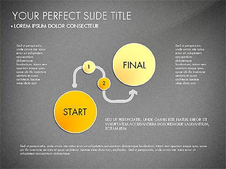 Step by Step Timeline Diagram, Slide 10, 03102, Timelines & Calendars — PoweredTemplate.com