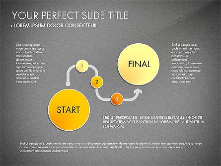 Step by Step Timeline Diagram, Slide 11, 03102, Timelines & Calendars — PoweredTemplate.com