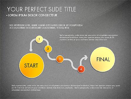 Step by Step Timeline Diagram, Slide 12, 03102, Timelines & Calendars — PoweredTemplate.com