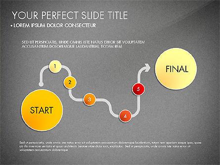Step by Step Timeline Diagram, Slide 13, 03102, Timelines & Calendars — PoweredTemplate.com