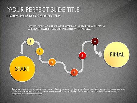 Step by Step Timeline Diagram, Slide 14, 03102, Timelines & Calendars — PoweredTemplate.com
