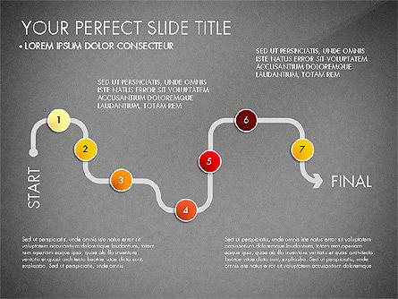 Step by Step Timeline Diagram, Slide 15, 03102, Timelines & Calendars — PoweredTemplate.com