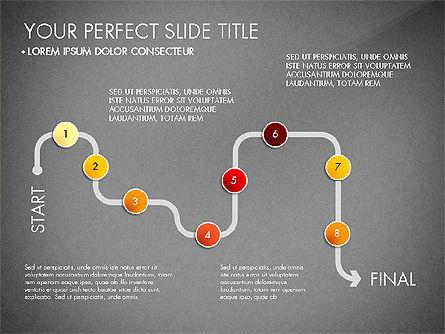 Step by Step Timeline Diagram, Slide 16, 03102, Timelines & Calendars — PoweredTemplate.com