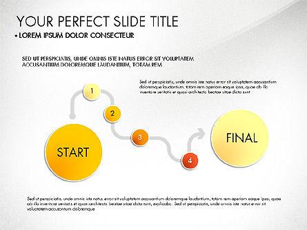 Step by Step Timeline Diagram, Slide 4, 03102, Timelines & Calendars — PoweredTemplate.com