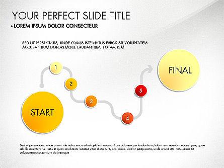 Step by Step Timeline Diagram, Slide 5, 03102, Timelines & Calendars — PoweredTemplate.com