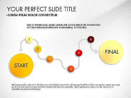 Step by Step Timeline Diagram, Slide 6, 03102, Timelines & Calendars — PoweredTemplate.com