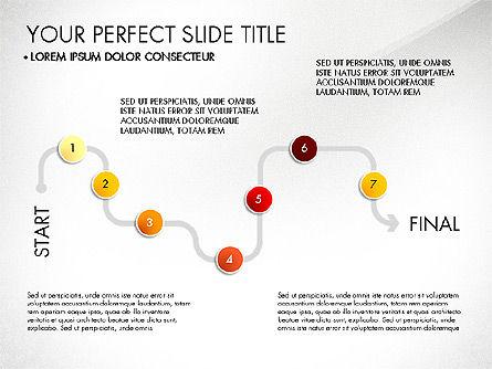 Step by Step Timeline Diagram, Slide 7, 03102, Timelines & Calendars — PoweredTemplate.com
