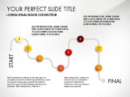Step by Step Timeline Diagram, Slide 8, 03102, Timelines & Calendars — PoweredTemplate.com