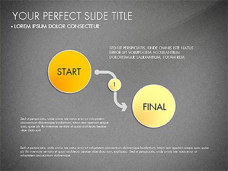 Step by Step Timeline Diagram, Slide 9, 03102, Timelines & Calendars — PoweredTemplate.com