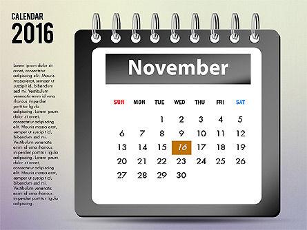 2016 Calendar, Slide 11, 03107, Timelines & Calendars — PoweredTemplate.com