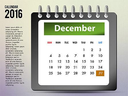 2016 Calendar, Slide 12, 03107, Timelines & Calendars — PoweredTemplate.com