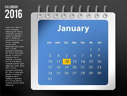 2016 Calendar, Slide 13, 03107, Timelines & Calendars — PoweredTemplate.com