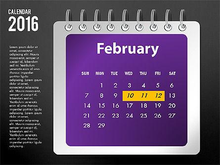 2016 Calendar, Slide 14, 03107, Timelines & Calendars — PoweredTemplate.com