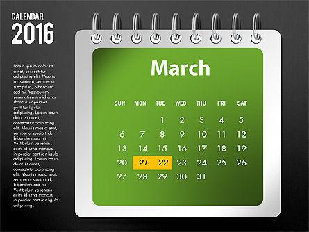 2016 Calendar, Slide 15, 03107, Timelines & Calendars — PoweredTemplate.com