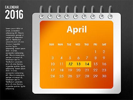 2016 Calendar, Slide 16, 03107, Timelines & Calendars — PoweredTemplate.com
