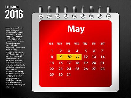 2016 Calendar, Slide 17, 03107, Timelines & Calendars — PoweredTemplate.com