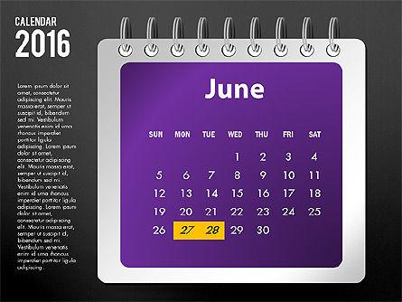 2016 Calendar, Slide 18, 03107, Timelines & Calendars — PoweredTemplate.com