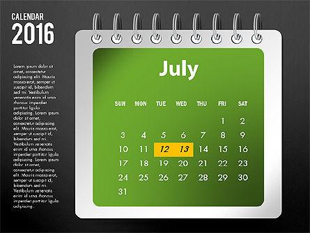 2016 Calendar, Slide 19, 03107, Timelines & Calendars — PoweredTemplate.com