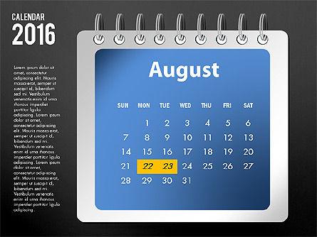 2016 Calendar, Slide 20, 03107, Timelines & Calendars — PoweredTemplate.com